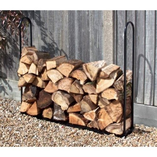 1M Wood Log Store Outdoor Garden Fire Log Storage Unit