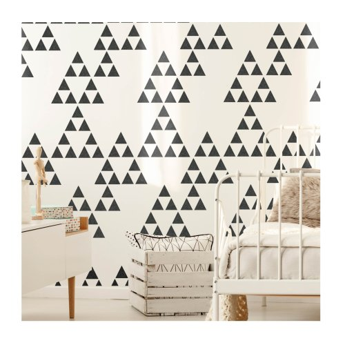 Naasko Triangles Furniture Wall Stencil for Painting