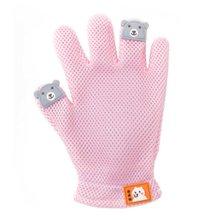 Pet Grooming Glove Gentle Deshedding Brush Glove Left