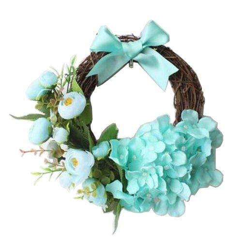 Artificial Wreath Hanging Rattan Garland Door Wreath Wedding Decor