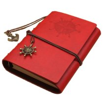 5 Star Business Supplies--European Retro Loose Leaf Notebook [A6, Red]