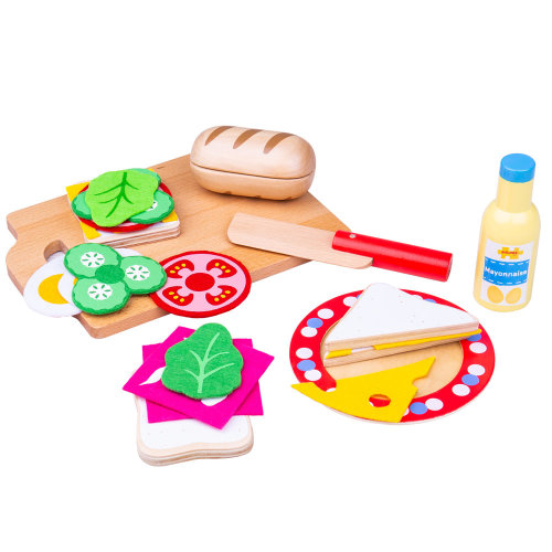 Bigjigs Toys Wooden Sandwich Making Play Set