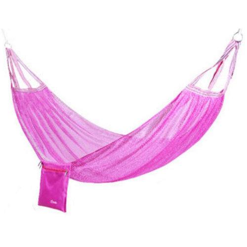 Single Person Ice Silk Hammock Outdoor Leisure Hammocks 125*190 CM Pink