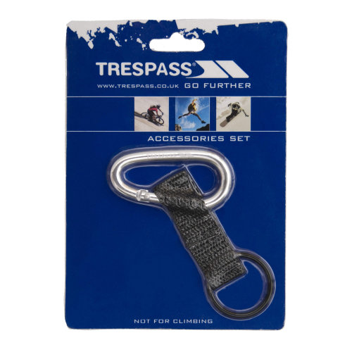 Trespass Affix 6mm Carabineer With Strap And Rubber Ring