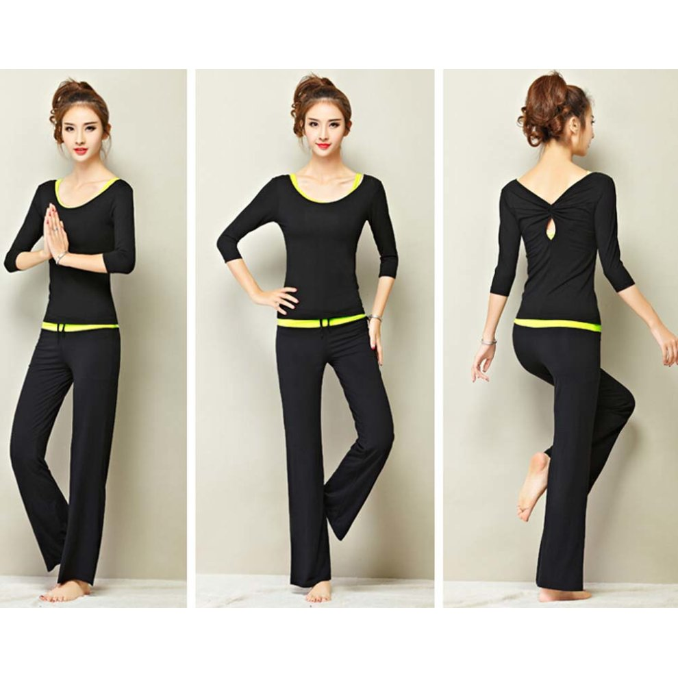 21a1fcf93e55 ... Womens Fitness Dance Yoga Wear Set 3 Pieces Sexy Fitness Yoga Gym Dance  Outfit - 1. >