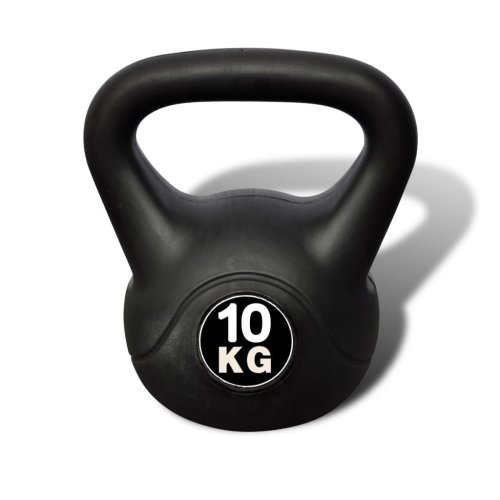 Kettlebell 10 kg Concrete with Plastic Coated