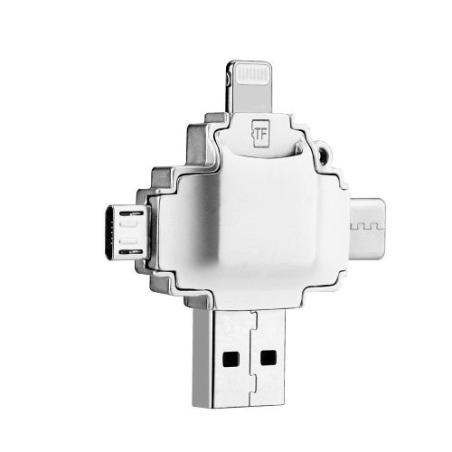 Lightning Micro USB TF Memory Card Reader for iOS Android Phone PC