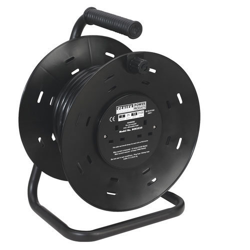 Sealey BCR2525 25mtr Heavy-Duty Cable Reel 2 x 230V