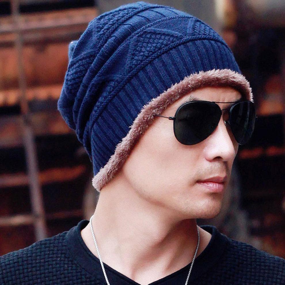 6511f496965 ... Stylish Warm Beanie Hat Skully Hat Ski Knit Cap Knit Winter Hats Coffee  - 1.