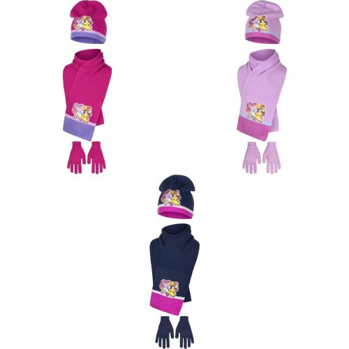 Disney Princess Childrens Girls Sweet Princess Winter Hat, Scarf And Gloves Set