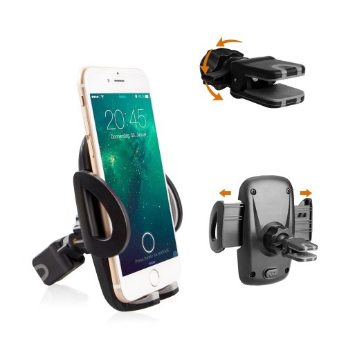 sports shoes c96de dff97 Avoalre Car Phone Holder, Air Vent Holder Universal Phone Mount Adjustable  360 Degree Rotation Car Cradle Compatible with iPhone 7 7 Plus 6S 5...