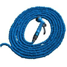7.5/22m Blue Expanding Garden Hose Pipe - Flexible Expandable Hosepipe and Spray Nozzle