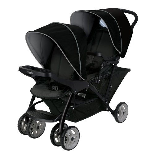 Graco Stadium Duo Click Connect Tandem Pushchair, Black/Grey