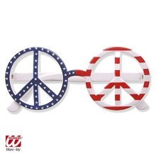 Usa Flag Love & Peace Glasses Glasses For 70s Hippy Hippie Fancy Dress - -  glasses peace usa american love hippie fancy dress flag