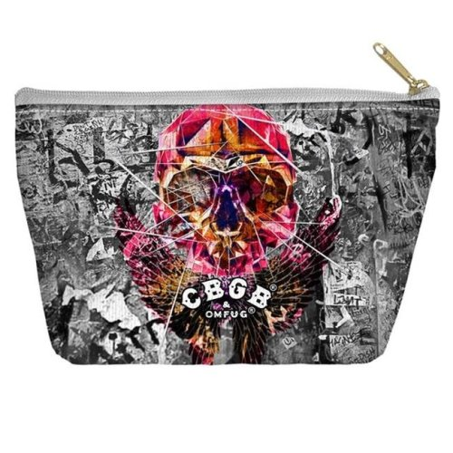3bfb012718f16 Trevco CBGB114-PCH2-12.5x8.5 Cbgb-Flying Skull - Accessory Pouch, White -  12.5 x 8.5 in. on OnBuy