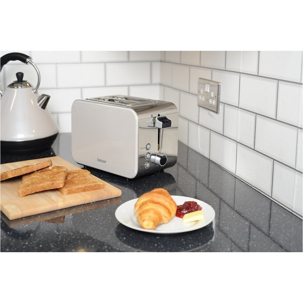f77abff08a46 ... 4 Igenix IGPK14 Breakfast Set, Pyramid Kettle and 2 Slice Toaster -  White - 5 ...