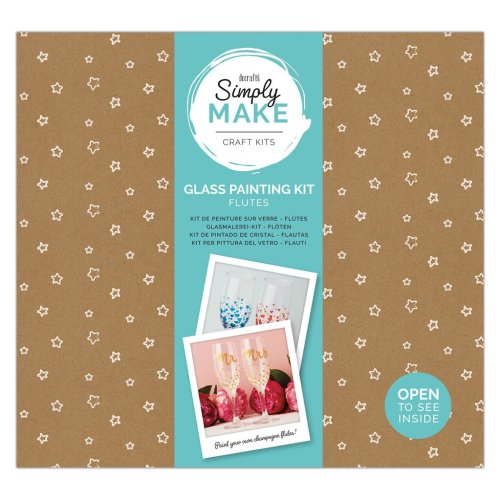 Simply Make Glass Painting Kit - Flutes (2pk)