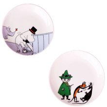 Set Of 2 Ceramic Creative Cartoon Round  Dishes  Chicken Dishes,White