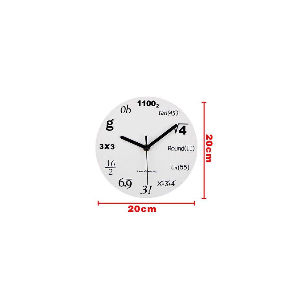 New Wall Clock Modern Design Mathematic Maths Equation Wall Time Decor