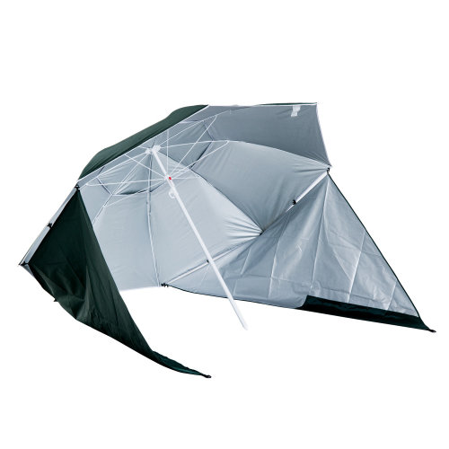 Outsunny All-Weather Beach Umbrella Shelteneer-Green