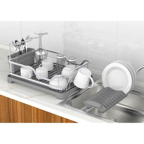 Aluminum Dish Drainers Removable Dish Rack Tray