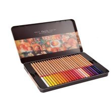 High Quality Colored Pencils Set of 48 Pencils Assorted Colors in Iron Box