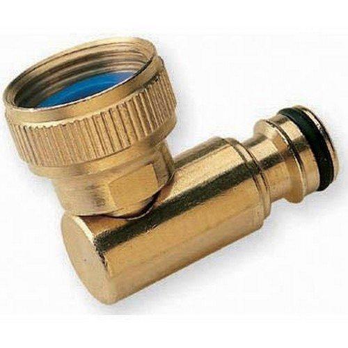 "Brass Hose Lock Revolving Elbow Female Thread 3/4"""