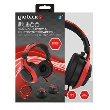 Gioteck FL-300 Wired Stereo Headset with Removable Bluetooth Speakers - PlayStation 4 - Red