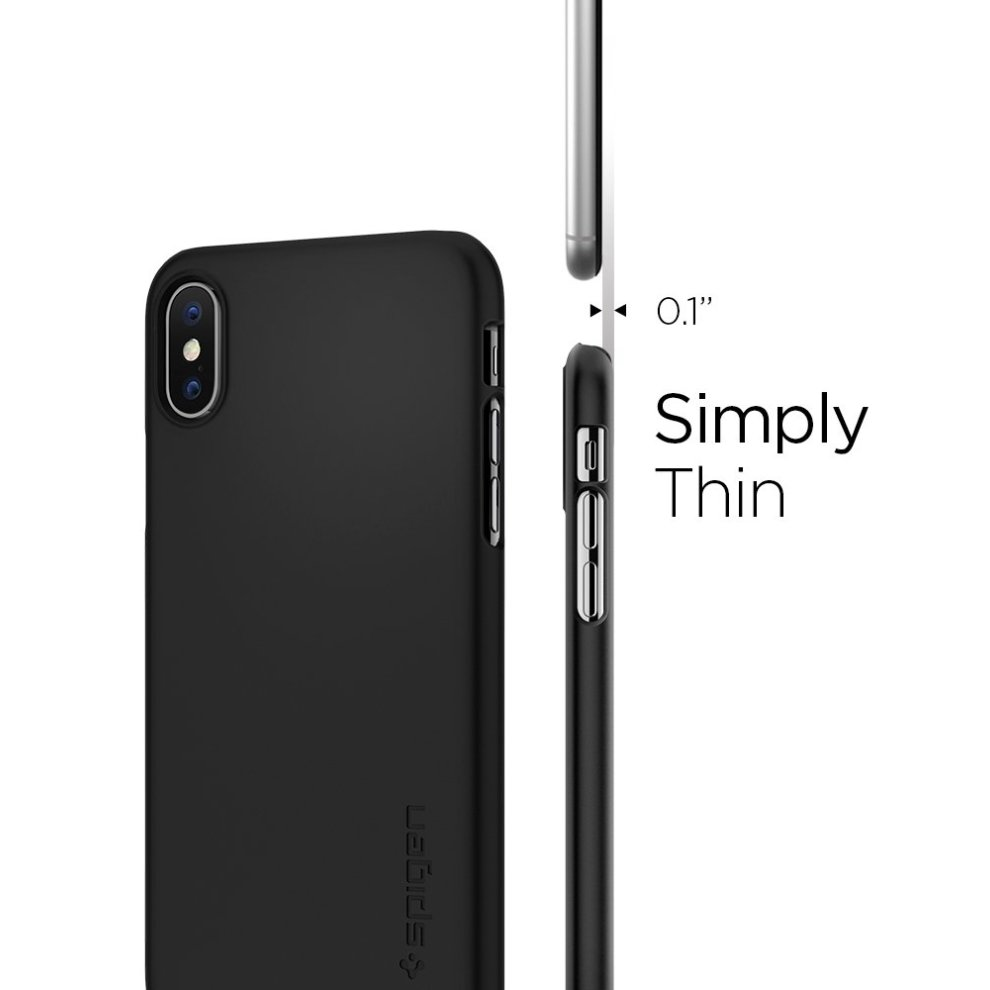 official photos 741cf 713fd Spigen [Thin Fit] iPhone Xs Case, iPhone X Case 5.8 inch with Premium Matte  Finish Coating Non-bulky slim case for iPhone Xs (2018) iPhone X (2017)...
