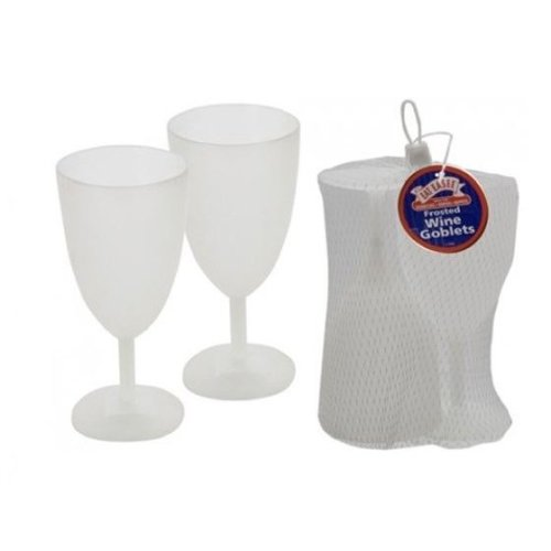 Eat Easee - Frosted Plastic Wine Goblets