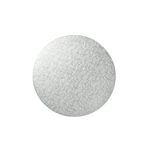 "10"" Thin Silver Round Cake Board 3mm Thick"