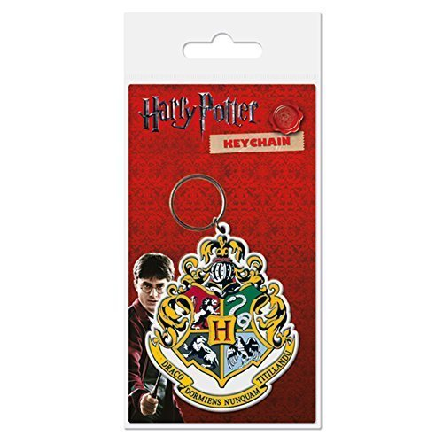 Harry Potter Hogwarts Crest Rubber Keychain -