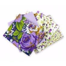 Fat Quarter Bundle - 100% Cotton - Verona Lilac - Pack of 6