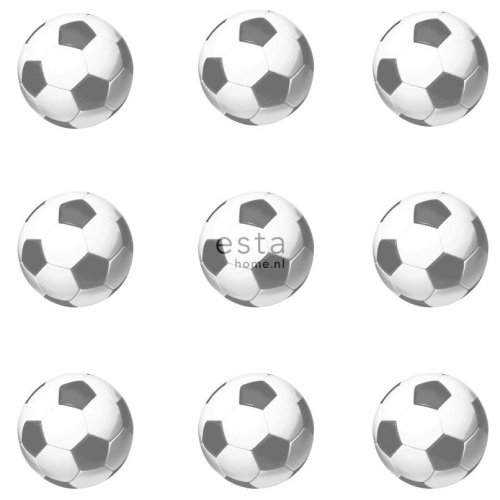 HD non-woven wallpaper footballs black and white