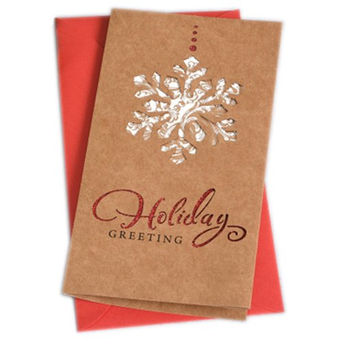 Christmas Cards Greeting Cards Christmas Gift Xmas Cards (4 Cards and Envelopes), Brown # 21