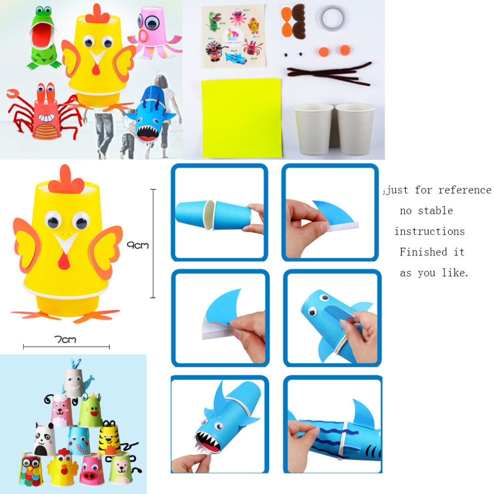 Set Of 5 Handmade Handwork Easy Making Paper Craft Kits Kids Toys On