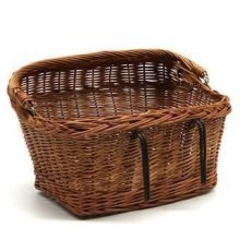 Large Wicker Bicycle Basket with Swing Handle