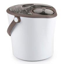 Polder Chill Station Party Ice Bucket & Wine/Spirits Bottle Chiller 2-in-1 White