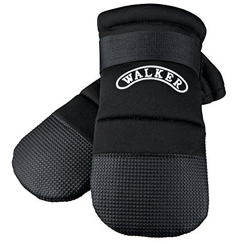 Trixie Walker Care Protective Boots (rottweiler ) - Dog Boot Paw Shoe Black -  dog trixie walker care boot protective paw shoe boots black neoprene