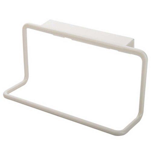 8 Pcs Plastic Back Style Single Lever White Towel Rack Towel Bar