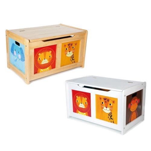 Tidlo Wooden Jungle Toy Chest - Storage