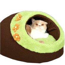 Skin Soft and Warm Pet House Dog Cat Pet Bed Puppy sofa, Floret 44*38*27CM