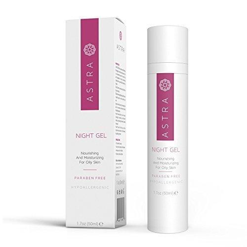 Astra Cosmetics Night Gel Nourishing and Moisturizing for Oily Skin 50 mL
