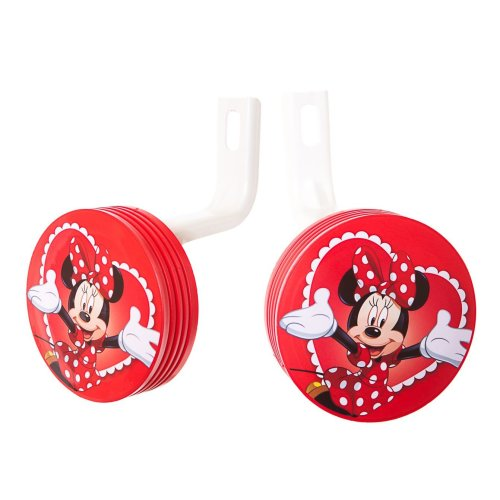 "12"" Wheel DISNEY MINNIE MOUSE BIKE STABILISERS RED New (No fittings needed)"