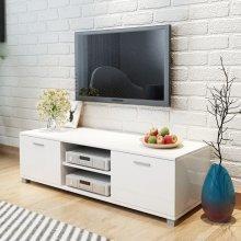 vidaXL TV Cabinet High-Gloss White 140x40.3x34.7 cm