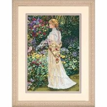 D35119 - Dimensions Counted X Stitch - Gold, in Her Garden