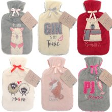 Full Size Hot Water Bottle With Plush Fleece Cover