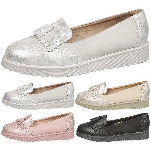 16a40d961bd Leilani Womens Low Heel Slip On Tassel Loafers