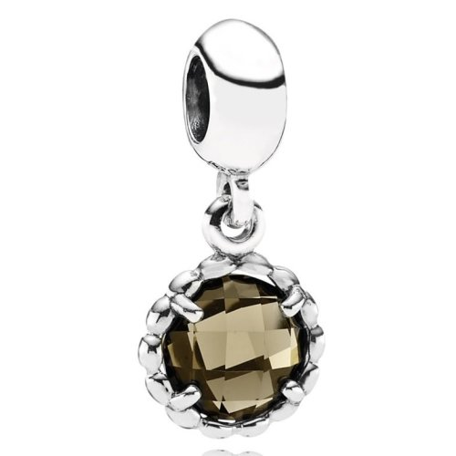 Pandora Hanging Smoky Quartz Charm - 791021SQ