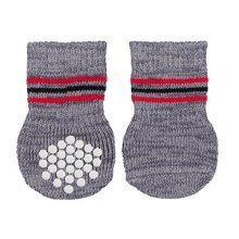 Trixie Anti-slip Dog Socks, L-xl, Grey - Socks Slip Paws Injured Non Floors Lxl -  socks dog trixie slip grey paws injured non floors lxl antislip